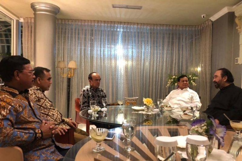 Prabowo-Paloh Sepakati 3 Poin, Terkait Radikalisme Hingga Amandemen Konstitusi