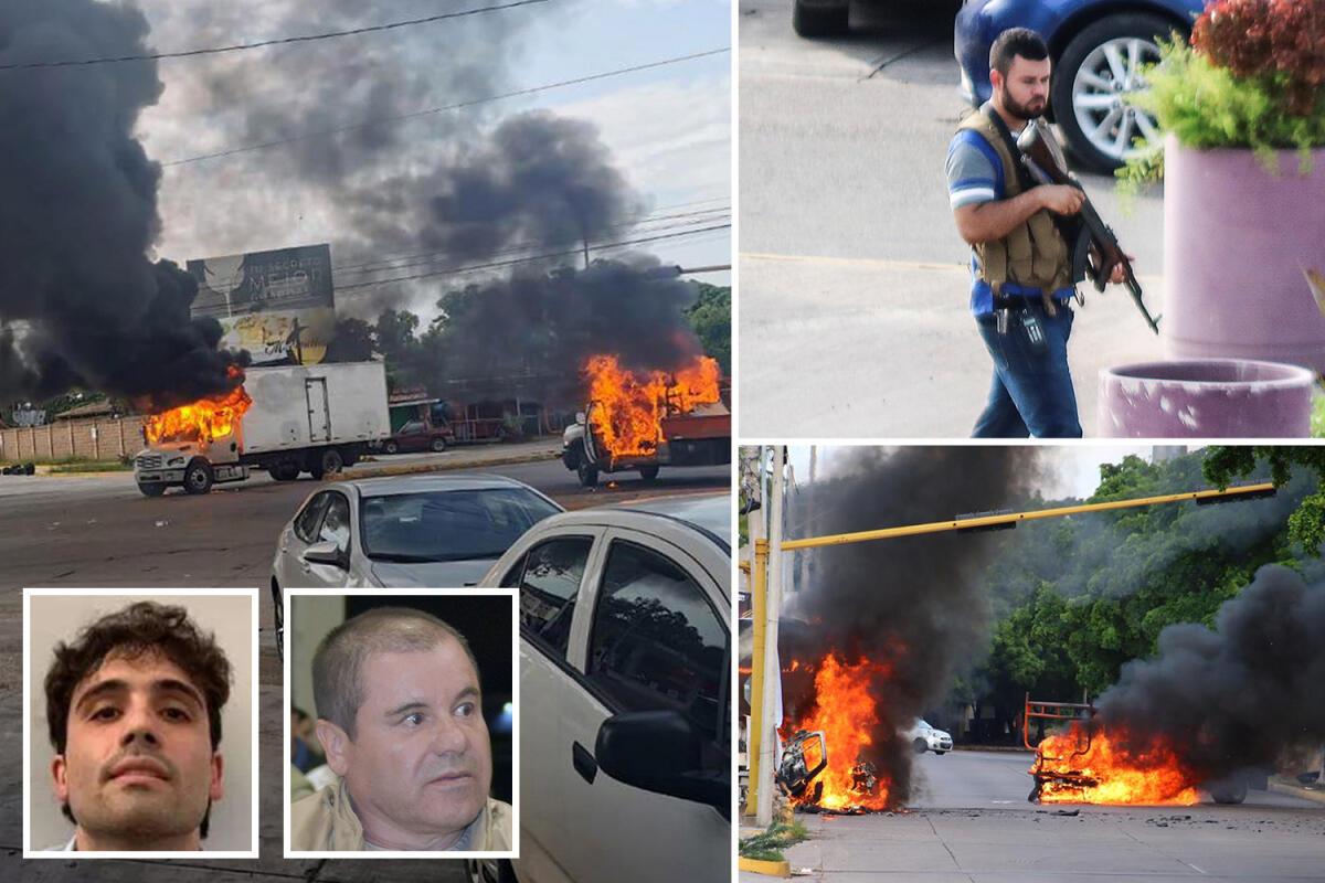 Putra Bos Kartel Narkoba Meksiko Di Bebaskan Setelah Ribuan Pengawalnya Mengepung