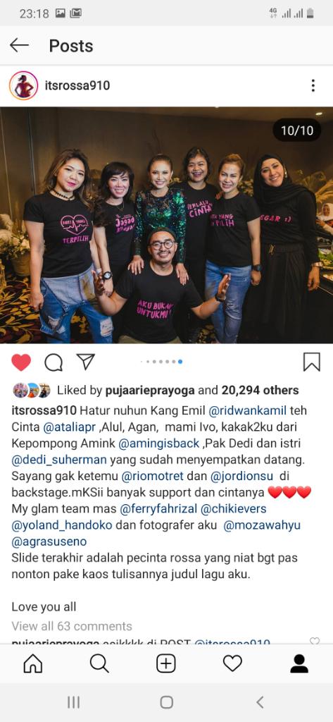 Pelajaran Berharga Konser Rossa Tegar 2.0 Bandung : Ngefans Tuh Harus All Out Gan!