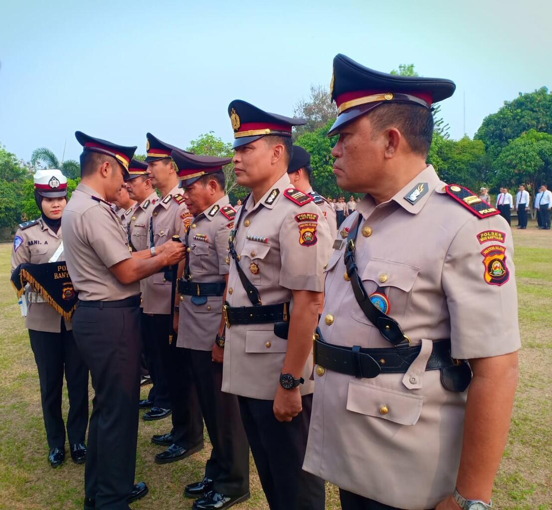 Kapolres Banyuasin Pimpin Sertijab Pejabat Utama dan Tiga Kapolsek