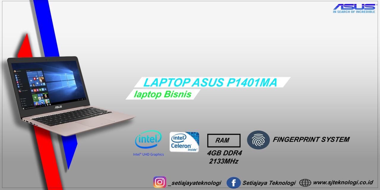 Asus P1401MA BV141T,laptop pembisnis murah dengan fingerprint sensor