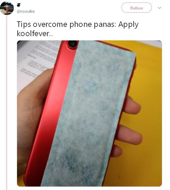 Tips Solusi Ampuh Atasi Panas Hp ala Netizen +62, Pakai Plester KoolFever
