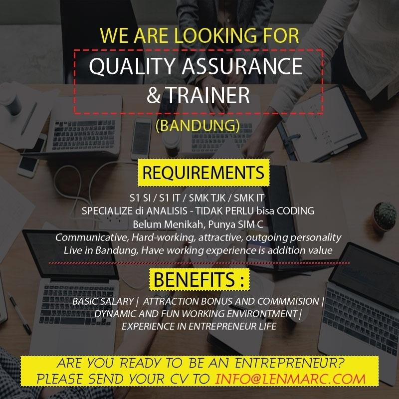 """*WE ARE LOOKING FOR IT """"QUALITY ASSURANCE & TRAINER""""*"""
