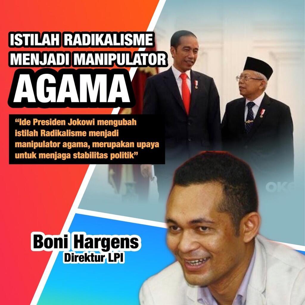 Presiden Jokowi Ubah Istilah Radikalisme jadi Manipulator Agama,