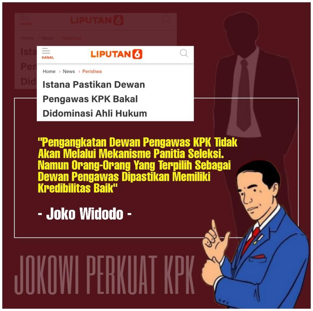 Didominasi Ahli Hukum, Presiden Jokowi akan Tunjuk Dewan Pengawas KPK