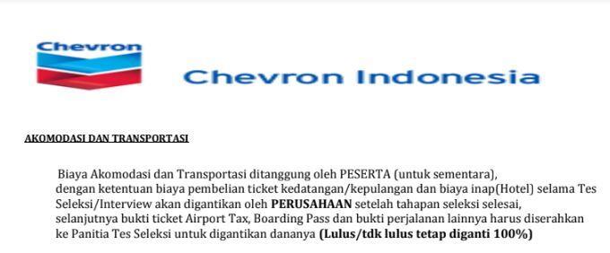 Hati-Hati Penipuan Lowongan Kerja PT. Chevron
