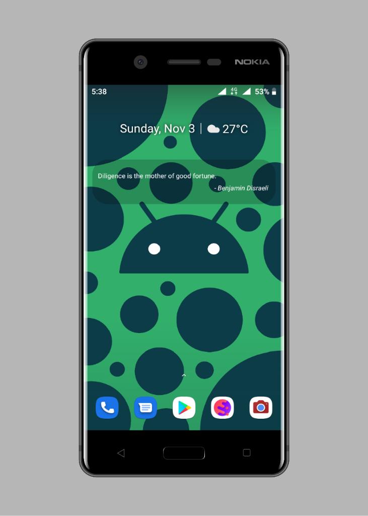 Android Homescreen Setup #1