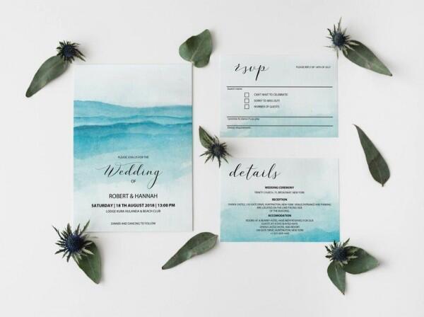 9 Inspirasi Desain Undangan Pernikahan Tema Pantai, Unik Banget!