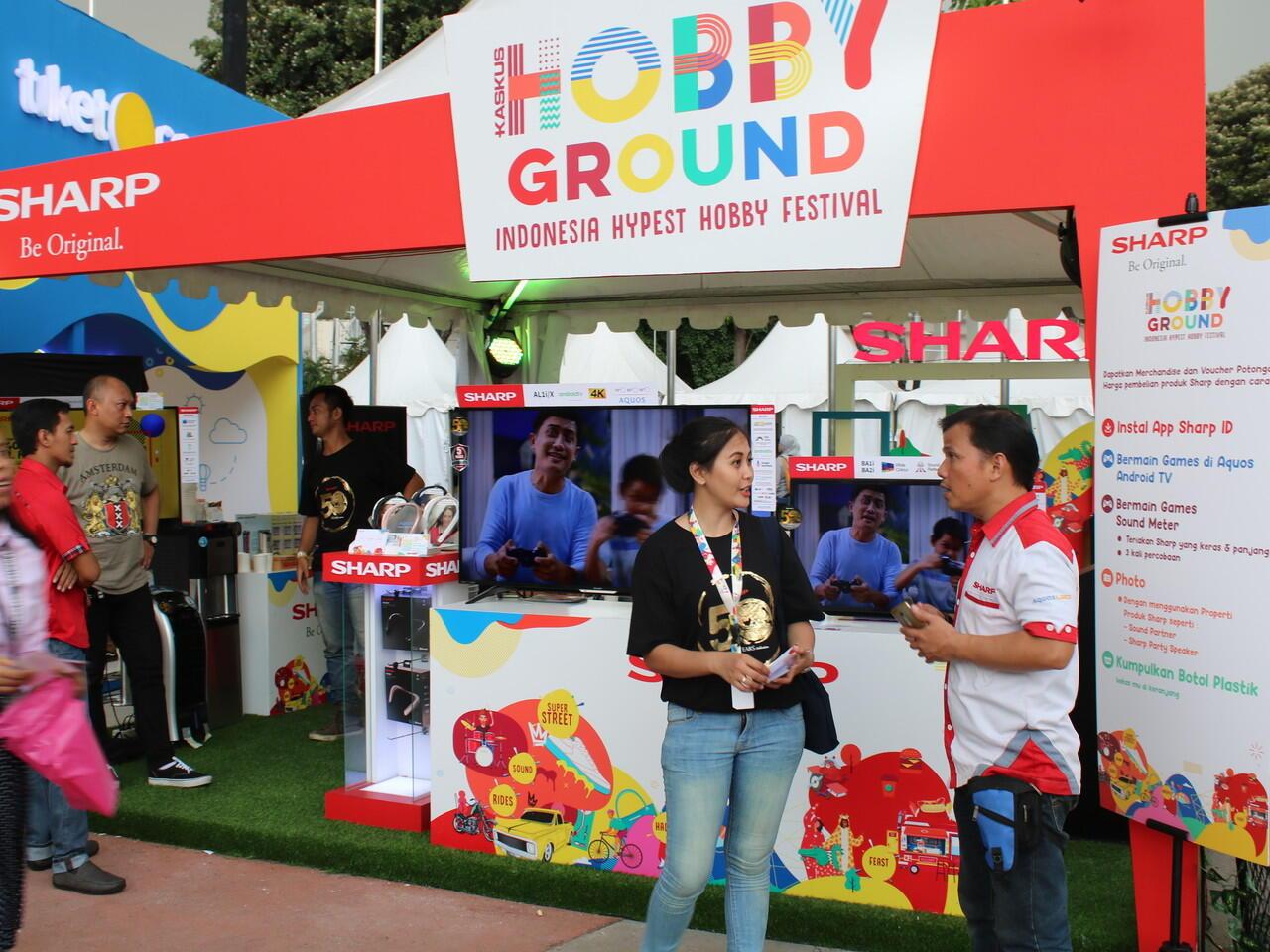 Ramaikan KASKUS HobbyGround, Sharp Ajak Pengunjung Lebih Peduli Lingkungan