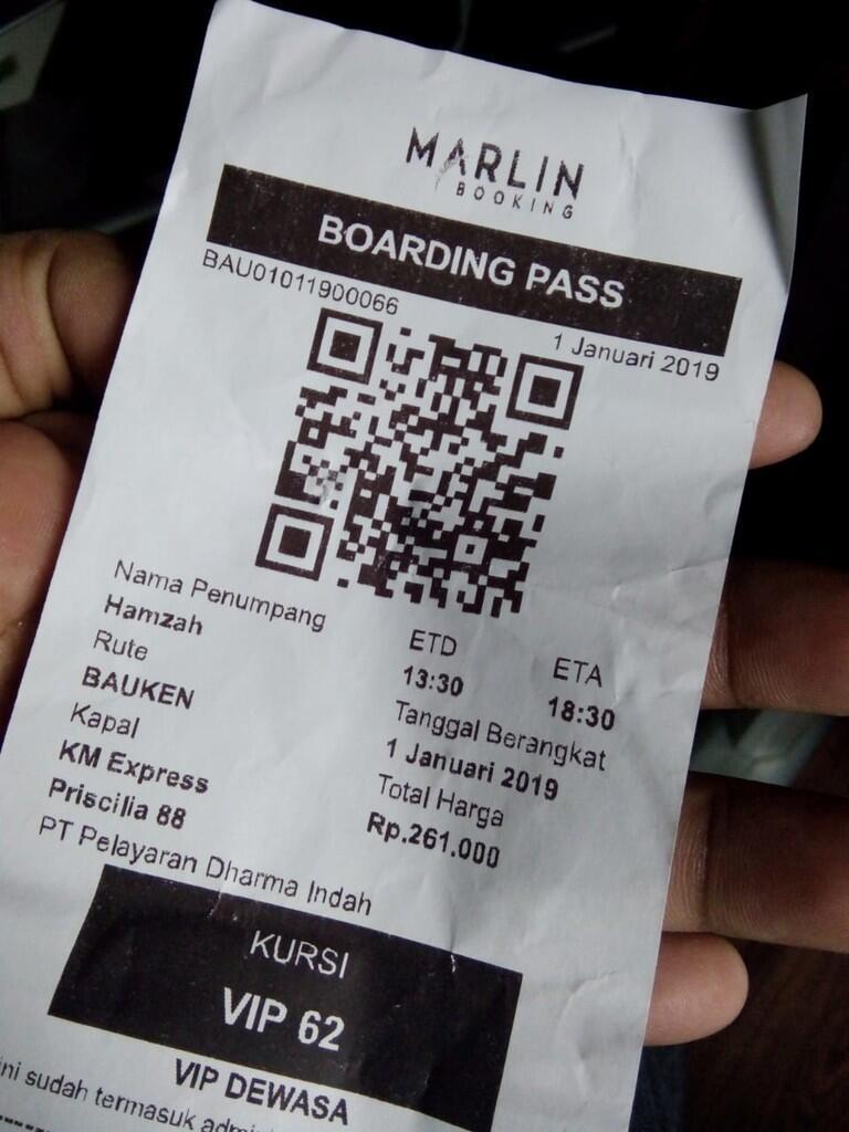 Penerapan sistem e-ticketing di Pelabuhan Baubau. Semua penumpang wajib miliki tiket.