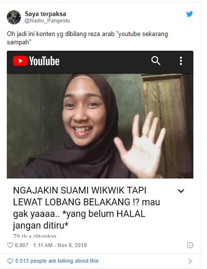 Viral! Sering Bikin Konten 'Wik Wik', Pasangan YouTuber Ini Dihujat Warganet
