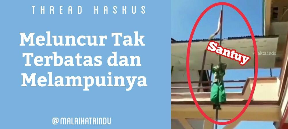 Siswi SD Ini Berseluncur Di Tiang Bendera Dengan Santuy, Ada Bakat Jadi Damkar?