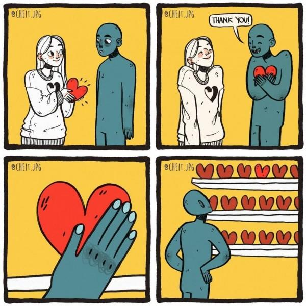 14 Ilustrasi Jujur Cewek Saat Patah Hati