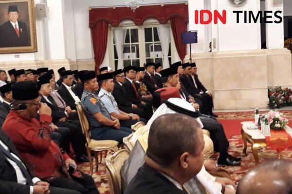 Ma'ruf Beri Sambutan Acara Maulid Nabi di Istana, Jokowi Mesem-Mesem