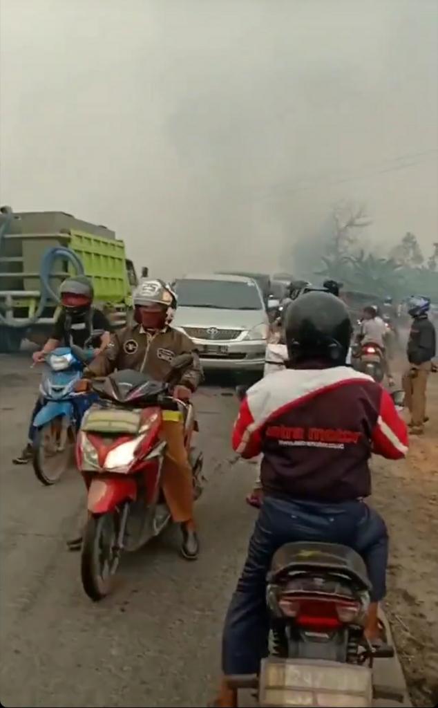 Kebakaran di Tanjung Api-api, Banyuasin Hari Ini Parah dan Viral !