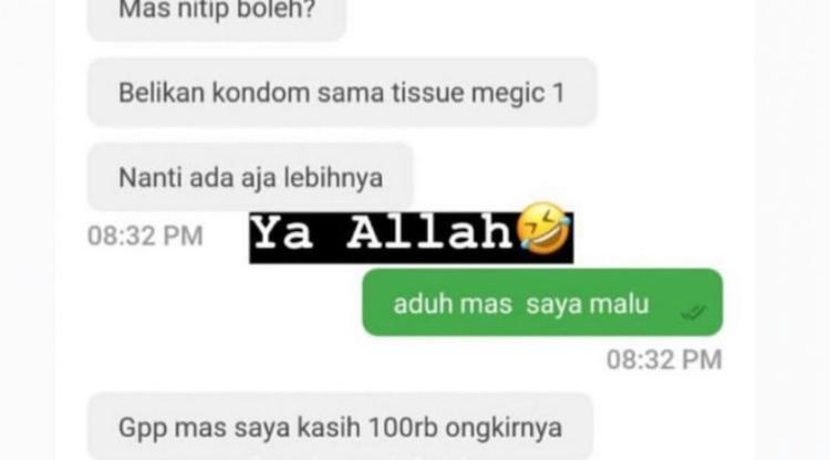 Alasan Chat Penumpang Ojol Bikin Ngakak! Kok Ada yang Nitip Kondom Sama Tisue Magic?