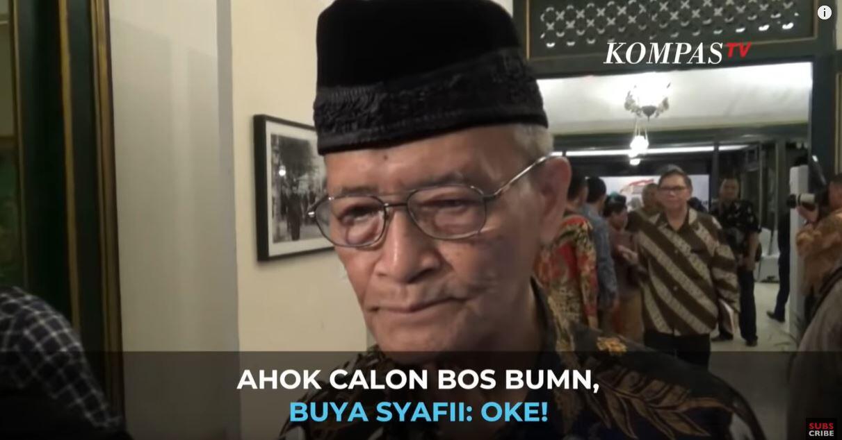 Novel FPI, Rizal Ramli Tolak Ahok Jadi Dirut BUMN, Buya Syafi'i : Gak Usah Di Dengar