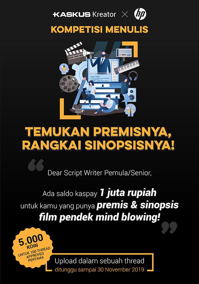 Tertarik dengan Perfilman? Yuk Tulis Naskahmu. Bonus Koin dan Saldo Kaspay Menunggu