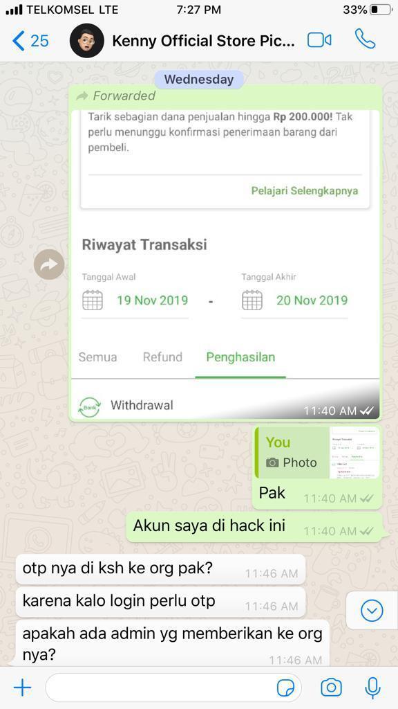 [HELP] Account TOKOPEDIA dibobol Dana Ratusan Juta Rupiah Hilang