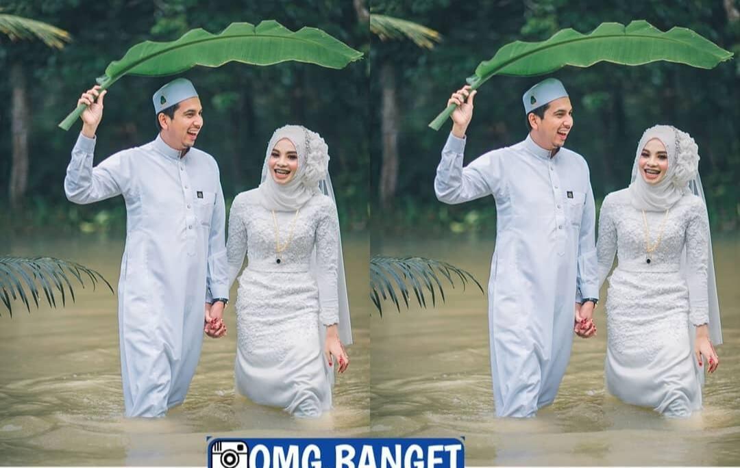Wow! Amazing! Potretan Moment Pernikahan Saat Banjir Ini, Bikin Mata Tak Berkedip!