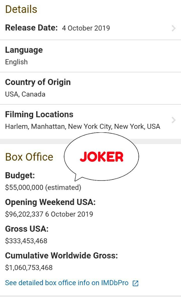 JOKER DAN ANTIKLIMAKS PENOKOHAN FILM