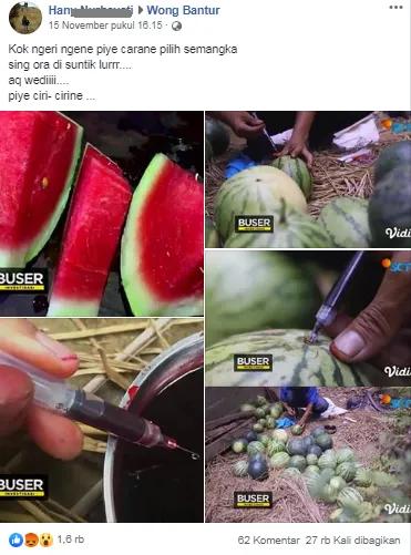 Hati-Hati Jika Beli Semangka, Viral Ada Semangka Suntik Beredar!