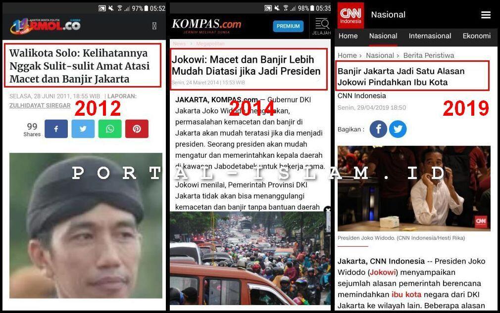 Calon Ibu Kota Baru Kebanjiran, Netizen: Pindah Ke Mana Lagi Pakde?