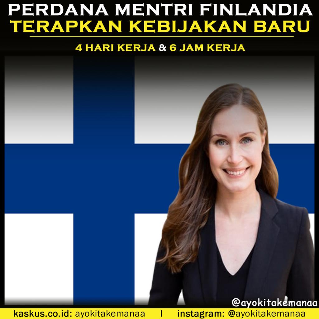 Perdana Mentri Cantik Finlandia Ini Bikin Kebijakan Kerja Cukup 4 Hari Dalam Seminggu