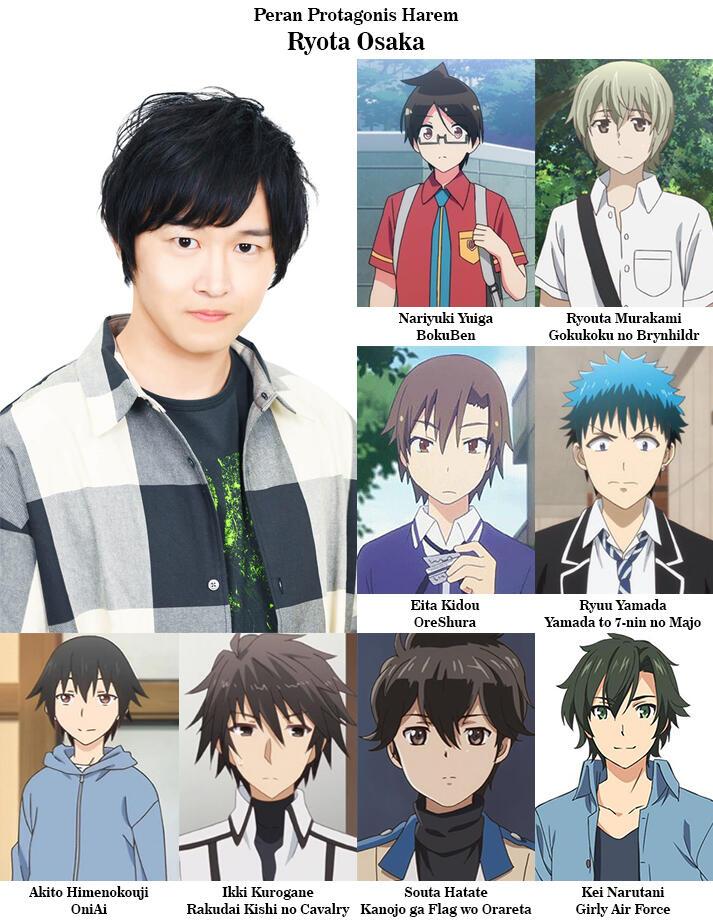 5 Pengisi Suara yang Sering Jadi Langganan Pemeran Protagonis di Anime Harem