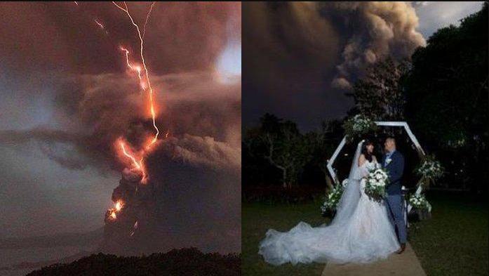 Pasangan Yang Tetap Menikah Walaupun Gunung Taal Di Filipina Meletus