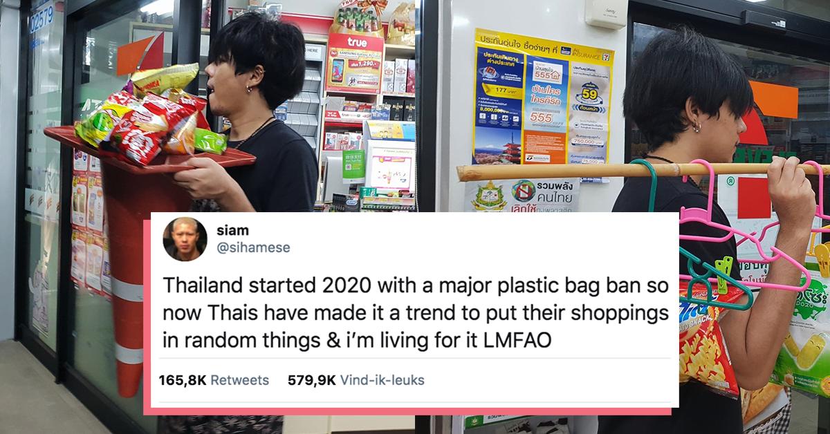 """Viral """"TREN KOPLAK"""" Di Thailand Setelah Kantong Plastik Dilarang!"""