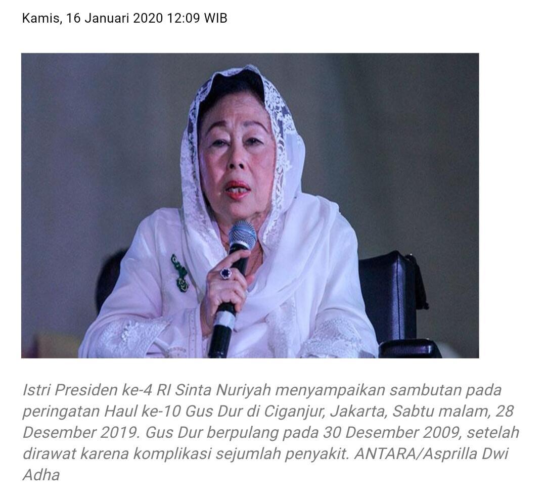 Sinta Nuriyah: Jilbab Tak Wajib Bagi Perempuan Muslim