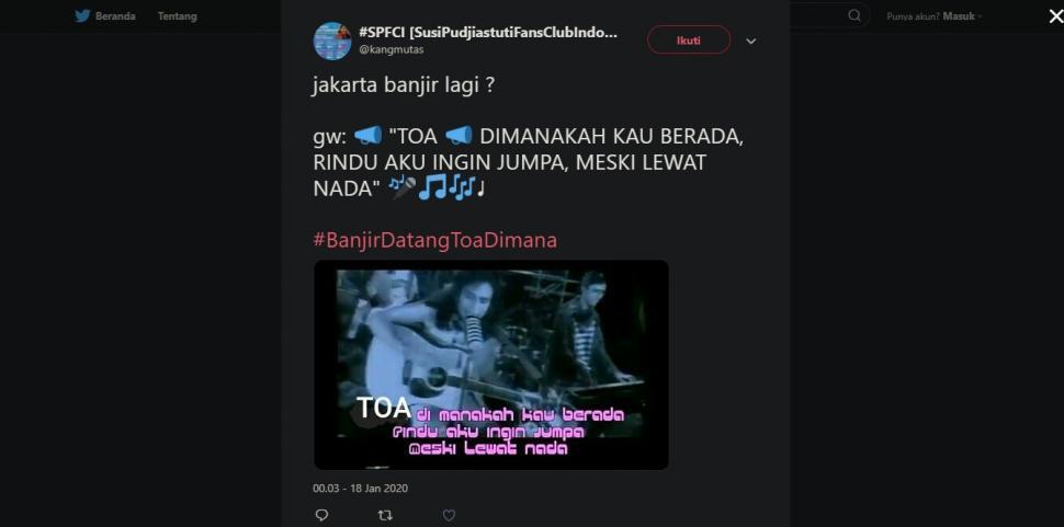 Jakarta Banjir Lagi, Toa Anies Baswedan Jadi Bahan Cibiran Netizen