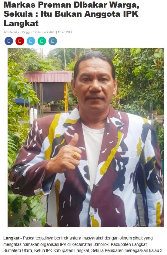 Preman Bertato Tewas Dihajar di Warung Mie Aceh