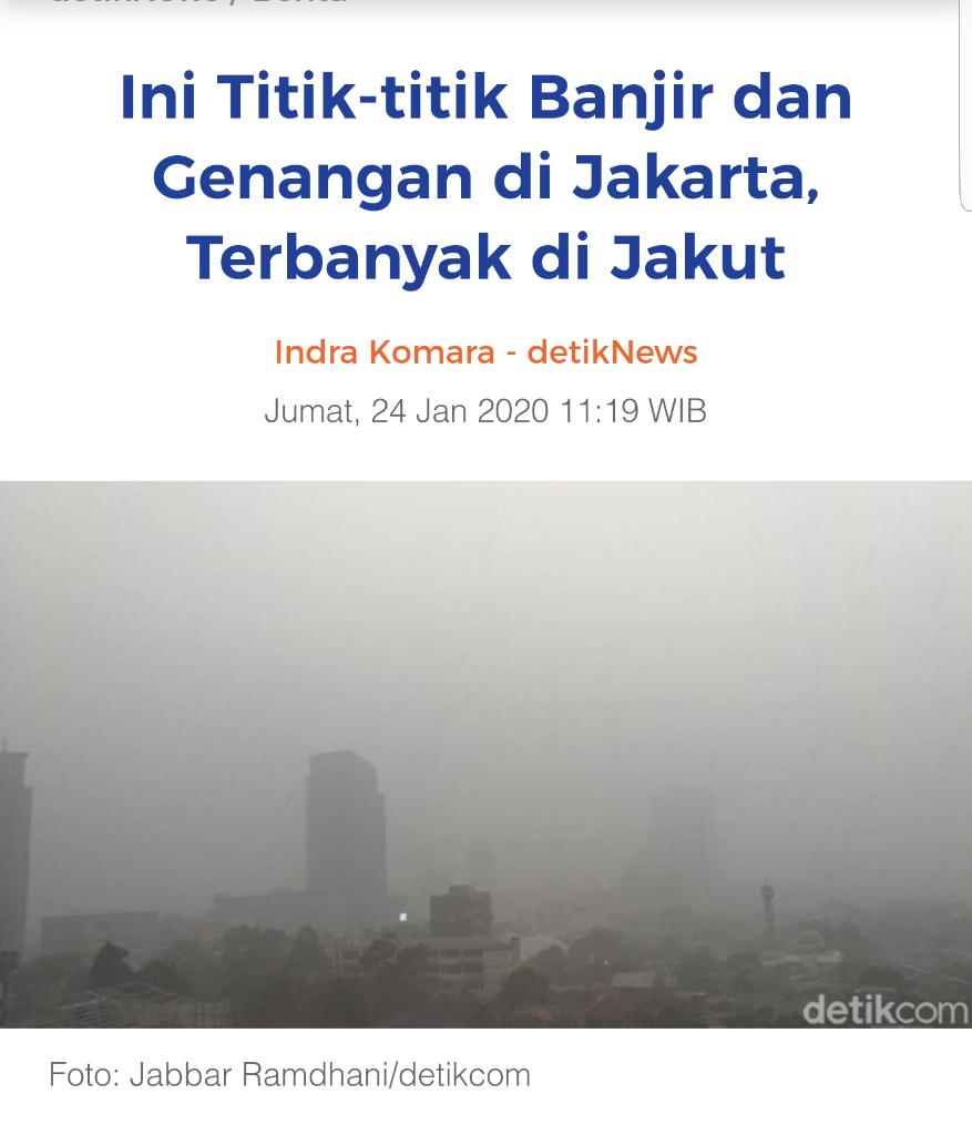 Ini Titik-titik Banjir di Jakarta, Terbanyak di Jakut