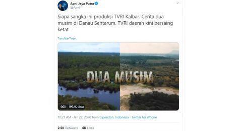 Hasil Produksi TVRI Kalimantan Barat Dikira Discovery Channel