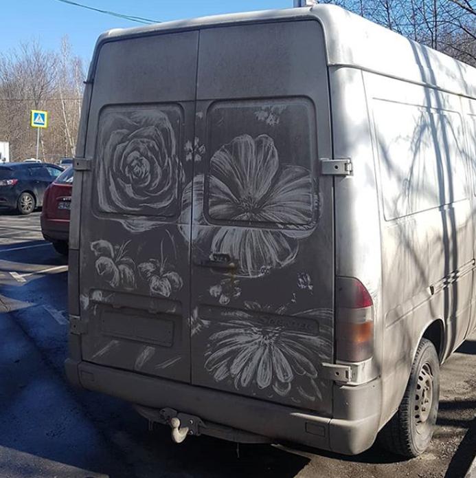 Begini Jika Mobil Kotor Diubah Menjadi Karya Seni