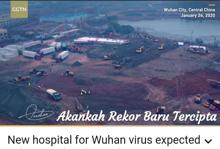 Virus Corona Melanda, China Bangun Rumah Sakit Khusus Dalam 6 Hari