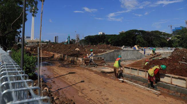 Klaim Sudah Kerjakan 80 Persen, Kontraktor Revitalisasi Monas Tagih Bayaran