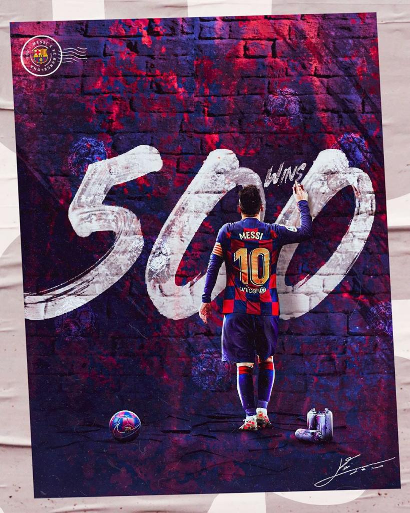 Lionel Messi Raih 500 Kemenangan Bersama Barcelona!