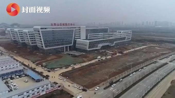Bukan Sulap Bukan Sihir, Rumah Sakit Corona Virus Berdiri Dalam Dua Hari di China!
