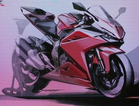 Penampakan Sketsa Honda CBR250RR Mesin V-Twin, Ini Yang Akan Lawan ZX25R?