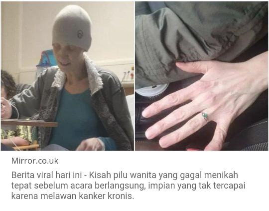 Kisah Pilu Penderita Kanker Gagal Menikah!