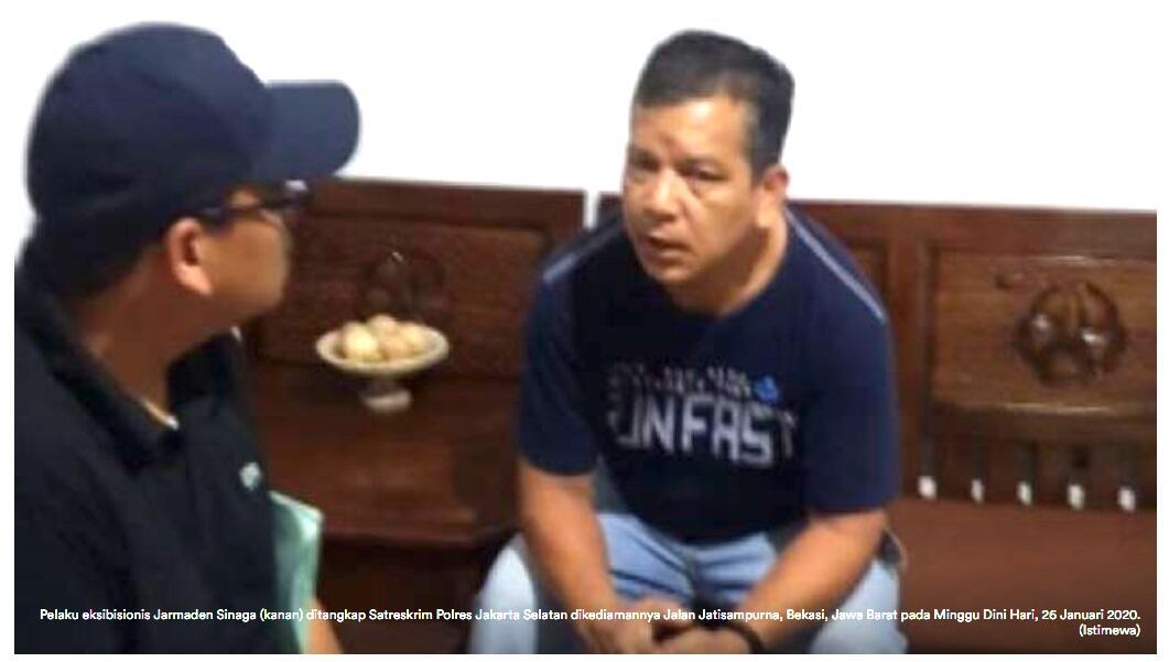 Pamer Alat Kelamin ke Wanita, Jarmaden Sinaga Dicokok Polisi di Rumahnya