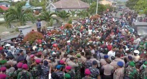 Demo Tolak Ratusan WNI dari Wuhan, Kerusuhan Pecah di Natuna