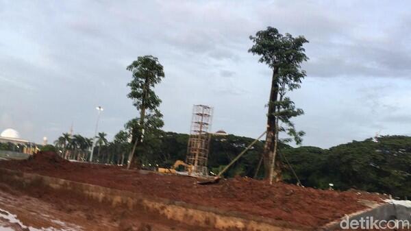 Ada Penanaman Pohon di Lokasi Revitalisasi Monas