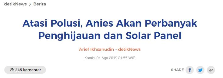 Dapat Info Lahan RTH Era Ahok Jadi Sentra Kuliner, PDIP Protes Anies