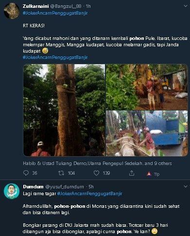 Anies Kembali Hijaukan Monas, Warganet: Pohon Mahoni Mana, Kok Jadi Kecil?