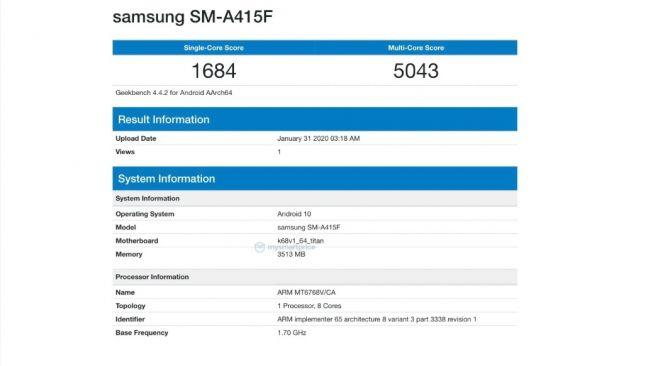 Terungkap Samsung Galaxy A41 Pakai Chipset MediaTek, Jadi Smartphone Murah?