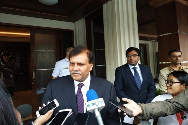Bahas Hubungan Bilateral dengan Menko Polhukam, Dubes Pakistan Beri Pesan Perdamaian